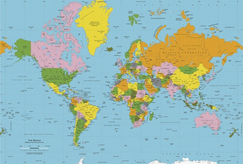 Mercator World Map
